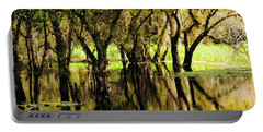 Portable Battery Charger featuring the photograph Florida Swamp by Rosalie Scanlon