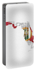Florida Typographic Map Flag Portable Battery Charger