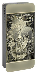 Portable Battery Charger featuring the digital art Florida Water by ReInVintaged