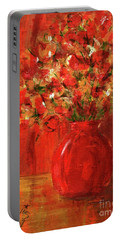 Florists Red Portable Battery Charger by P J Lewis