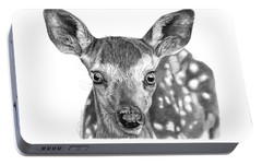 Portable Battery Charger featuring the drawing Florry The Fawn by Abbey Noelle