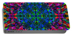Flower Abstract 9 Portable Battery Charger by Mike McGlothlen