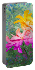God Made Art In Flowers Portable Battery Charger
