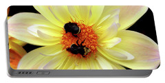 Flower And Bees Portable Battery Charger