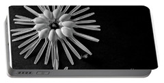 Flower And Bees Portable Battery Charger by Jimmy Ostgard