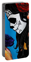 Flower And Skull Portable Battery Charger