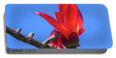 Flower And Sky Worship Portable Battery Charger