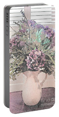 Flower Arrangement In Front Of Window Portable Battery Charger