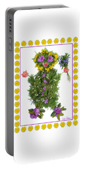 Portable Battery Charger featuring the digital art Flower Baby by Lise Winne