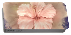 Portable Battery Charger featuring the digital art Hibiscus Flower by Bonnie Willis