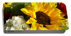 Portable Battery Charger featuring the photograph Flower Bouquet by Heidi Poulin