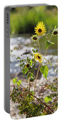 Flower By Stream Portable Battery Charger