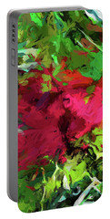 Flower Christmas Red Green Pink Portable Battery Charger