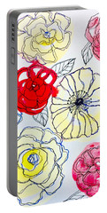 Flower Doodles Portable Battery Charger