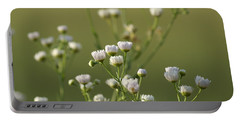 Portable Battery Charger featuring the photograph Flower Drops by Heidi Poulin