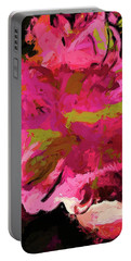 Flower Euphoria Magenta Pink Portable Battery Charger