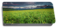 Flower Field And Sneffels Range Portable Battery Charger