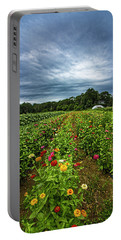Flower Field At North Sea Farms Portable Battery Charger