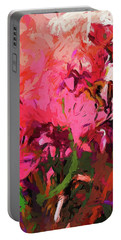 Flower Flames Soul Pink Portable Battery Charger