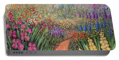 Portable Battery Charger featuring the painting Flower Gar02den  by Lynn Buettner