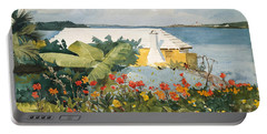 Flower Garden And Bungalow Portable Battery Charger