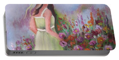 Flower Garden Portable Battery Charger by Vesna Martinjak