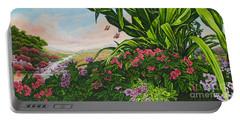 Flower Garden Vii Portable Battery Charger