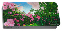 Flower Garden Xi Portable Battery Charger by Michael Frank