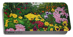 Flower Garden Xii Portable Battery Charger