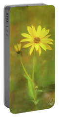 Flower Impression Portable Battery Charger