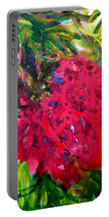 Flower In The Garden Portable Battery Charger