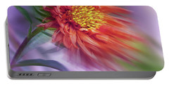 Flower In The Wind Portable Battery Charger by Nina Bradica