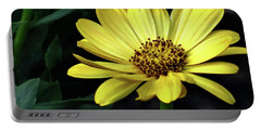 Flower In Yellow Portable Battery Charger