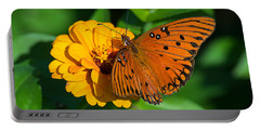 Flower Joy Portable Battery Charger by Kenneth Albin