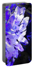 Flower Lavender Lilac Blue Portable Battery Charger