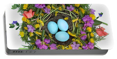 Flower Nest Portable Battery Charger