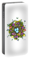 Portable Battery Charger featuring the digital art Flower Nest by Lise Winne