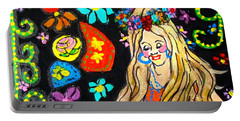 Flower Power Portable Battery Charger by Barbara O'Toole