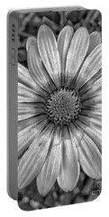 Flower Power - Bw Portable Battery Charger