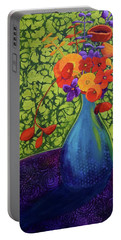 Flower Power Portable Battery Charger by Nancy Jolley