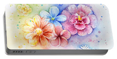 Flower Power Watercolor Portable Battery Charger