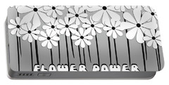 Flower Power - White  Portable Battery Charger
