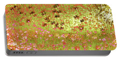 Portable Battery Charger featuring the digital art Flower Praise by Linde Townsend