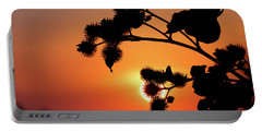 Flower Silhouette Portable Battery Charger