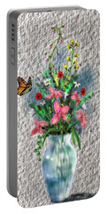 Flower Study Three Portable Battery Charger