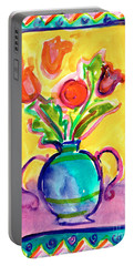 Flower Vase Portable Battery Charger
