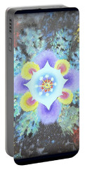 Floral Vortex Portable Battery Charger