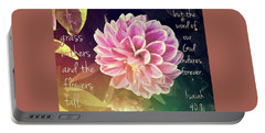Flower With Scripture Portable Battery Charger