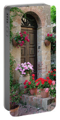 Flowered Montechiello Door Portable Battery Charger