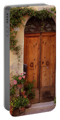 Flowered Tuscan Door Portable Battery Charger